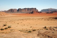 Wadi-Rumwüste Lizenzfreies Stockfoto