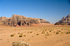 Wadi-Rumwüste, Jordanien Stockfotografie