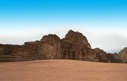 Wadi Run Desert Jordan Travel, natur royaltyfri bild