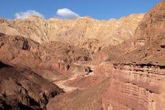 Wadi scenici in montagne di Eilat Fotografie Stock