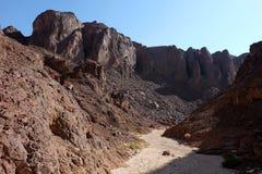 Wadi scenici in montagne di Eilat Immagini Stock Libere da Diritti