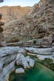 Wadi Shab - l'Oman fotografia stock