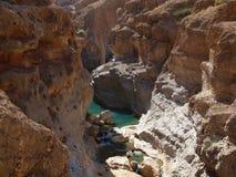 Wadi Shab, Oman immagini stock libere da diritti