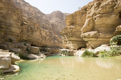 Wadi Shab, Oman Photographie stock libre de droits
