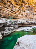 Wadi. Shab, Oman, Arabic Peninsula Royalty Free Stock Image