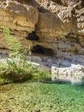 Wadi. Shab, Oman, Arabic Peninsula Royalty Free Stock Photography