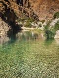 Wadi. Shab, Oman, Arabic Peninsula Stock Image
