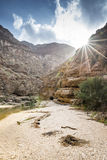 Wadi Shab Oman Stock Photo