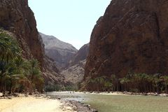 Wadi Shab, Oman Stock Photos
