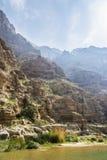 Wadi Shab & x28; Oman& x29; fotografia stock