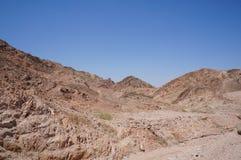 Wadi Shahamon dichtbij Eilat Stock Fotografie