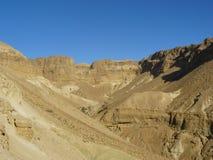 Wadi Zeelim. Deserto di Judean Immagine Stock
