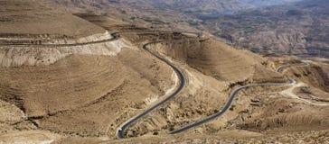 Wadiego Al Hasa, Południowy Jordania Fotografia Royalty Free