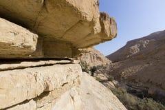 Wadiego Arugot rzeka, ein Gedi rezerwat przyrody, nieżywy morze, Izrael Zdjęcie Stock