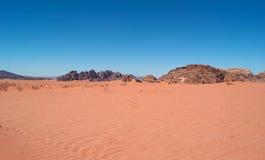 Wadiego rum dolina księżyc, Aqaba, Jordania, Środkowy Wschód Obraz Royalty Free