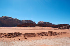 Wadiego rum dolina księżyc, Aqaba, Jordania, Środkowy Wschód Zdjęcie Stock