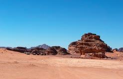Wadiego rum dolina księżyc, Aqaba, Jordania, Środkowy Wschód Fotografia Stock