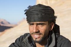 WADIEGO rum, JORDANIA - 27 2015 Grudzień: Portret przystojny beduin Fotografia Stock