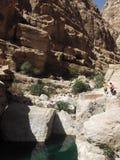 Wadiego Tiwi oaza, Oman Fotografia Stock