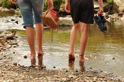 Wading Стоковое Изображение