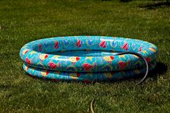 Wading Pool. Childs wading pool being filled Royalty Free Stock Photos