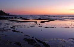 The Wading Pool on the rockshelf at sunrise Stock Photo