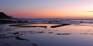 The Wading Pool on the rockshelf at sunrise Stock Image