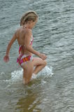Wading threw water Royalty Free Stock Photography