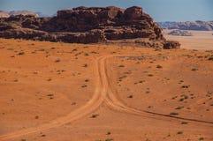 Wadirom i Jordanien Arkivfoto