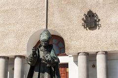 Free WADOWICE, POLAND, August 5, 2017: Wadowice Is The Place Of Birth Of Pope John Paul II. Church Of St. Peter The Apostle. Statue Of Royalty Free Stock Photography - 97613507