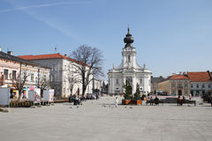 Wadowice square Stock Photography