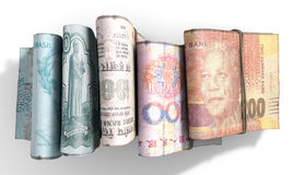 Wads Of Brics Notes Pile Light Royalty Free Stock Image