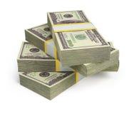 Wads dei dollari Fotografie Stock