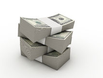 Wads of dollars Stock Photo
