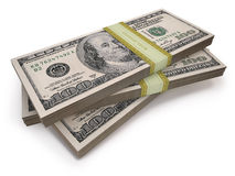 Wads Dollars Royalty Free Stock Photo