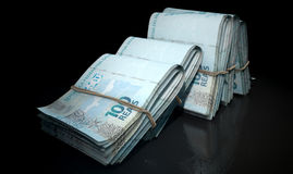 Wads Of Notes Pile Dark Royalty Free Stock Photo