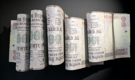 Wads Of Notes Pile Dark Royalty Free Stock Image