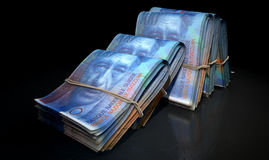 Wads Of Notes Pile Dark Royalty Free Stock Photos