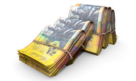 Wads Of Notes Pile Light Royalty Free Stock Image