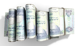 Wads Of Notes Pile Light royalty free stock photos