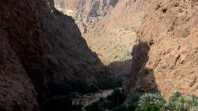 Wady in Oman stock videobeelden