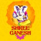 Władyki Ganapati tło dla Ganesh Chaturthi Obraz Royalty Free