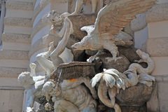 Władza na Gruntowej fontannie, Wiedeń Obraz Stock