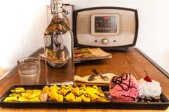 Wafelroomijs met water Royalty-vrije Stock Foto's