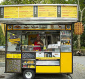 Wafels and Dinges cart in Central Park Stock Photo