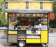 Wafels and Dinges cart in Central Park Royalty Free Stock Photography