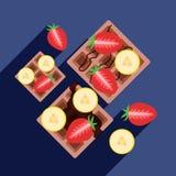 Wafels met banaan Royalty-vrije Stock Foto