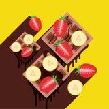 Wafels met banaan Royalty-vrije Stock Afbeelding