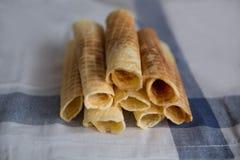 Wafels op een handdoek Royalty-vrije Stock Afbeeldingen