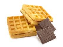 Wafeltje, chocolade Stock Afbeeldingen